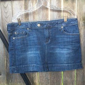 American Eagle Blue Jean Mini Skirt - Size 14